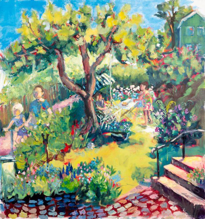 "Anna Asplund ""Sommardag i trädgården"""
