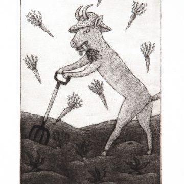 """Eva Rex """"Bocken som trädgårdsmästare"""""""